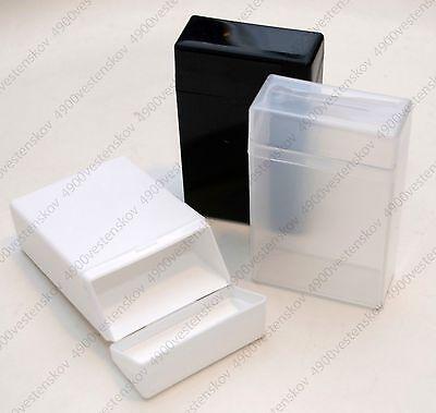 1pc Multipurpose Plastic Cigarette storage box for small items black white