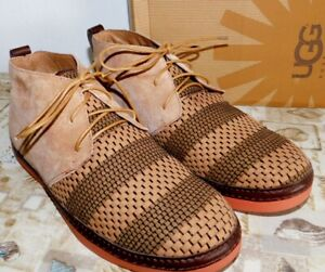 24ac633e858 Details about NEW MENS SIZE 12 CHESTNUT UGG DEKLAN WEAVE CHUKKA BOOTS LACE  UP SHOES $199