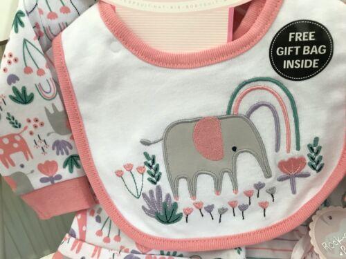 BABY CLOTHING GIFT SET GIRL BOY UNISEX SLEEPSUIT BABYGROW OUTFIT NEWBORN 6 MON