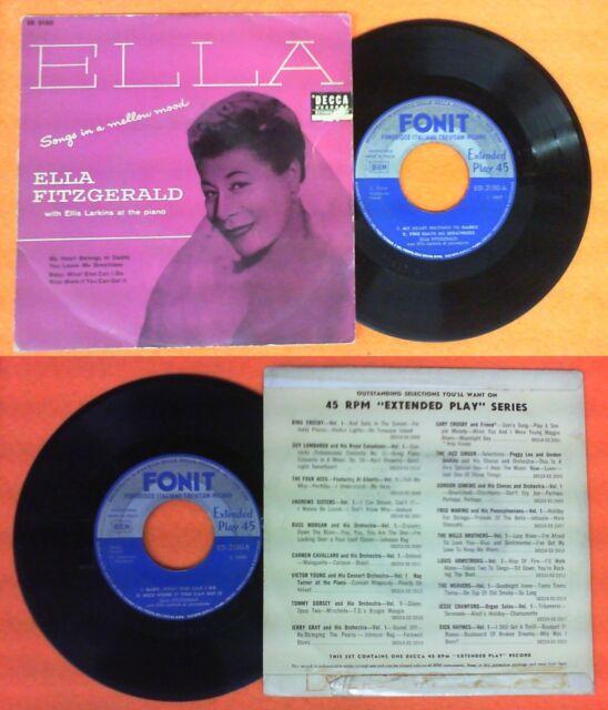 LP 45 7''ELLA FITZGERALD songs in a mellow mood ELLIS LARKINS FONIT no cd mc dvd