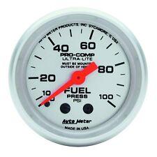"Auto Meter 4312 Gauge Fuel Pressure 2 1/16"" 100psi Mechanical Ultra-Lite"