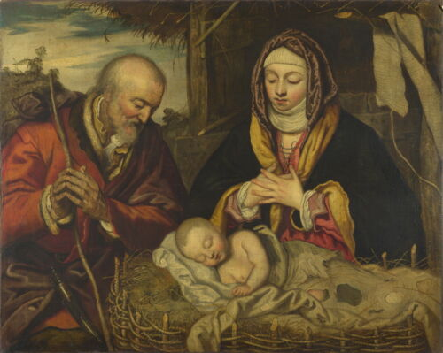 Jacopo Tintoretto The Nativity Giclee Canvas Print Paintings Poster Reproduction