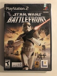 BRAND-NEW-SEALED-PS2-Star-Wars-Battlefront-Sony-PlayStation-2-black-label