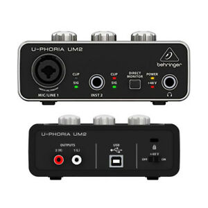 Behringer-UM2-U-Phoria-2x2-USB-audio-interface-for-Mic-and-instruments-48V-XENYX