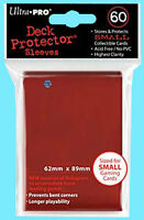 60 Ultra Pro Deck Protector Small Size Card Sleeves Red Yugioh 1 Pack Gaming