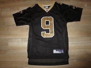 eb1a83ddf Drew Brees  9 New Orleans Saints Reebok NFL Jersey Youth M 10-12 ...
