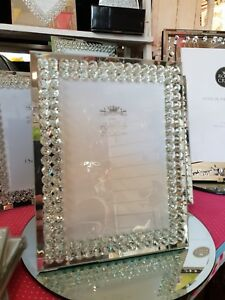 Mirror-And-Crystal-5x7-Photo-frame-Diamante-Photo-Sparkle-Wedding-Romany-Glitter