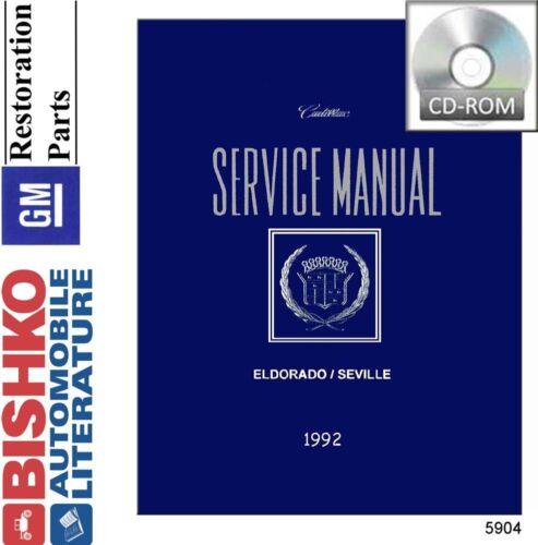 1992 Cadillac Eldorado Seville Shop Service Repair Manual CD