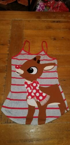 Rudolph Red Nosed Reindeer Holiday Womens SIZE XS Tank Top