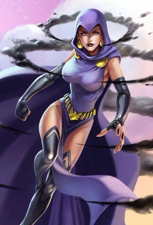 Raven CosplayZentai Kostüm Kleid Kapuze Mantel Halloween Überzieher Bodysuits N.