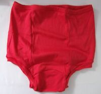 Vintage Xl School Gym Knickers Panties Briefs Gymphlex With Back Panel Red