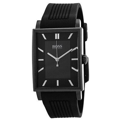 Hugo Boss Slim Ultra Modern Black Dial Black Rubber Mens Watch 1512953