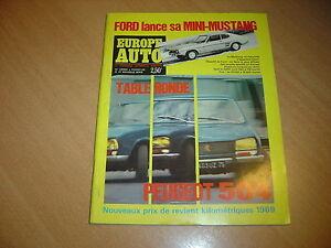Europe-Auto-N-23-Peugeot-504-Alfa-1750-Triumph-2500-Pi-Fiat-850-S