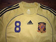 Men's XL adidas CLIMA365 2008-10 Spain Espana Xavi #8 Away Soccer Jersey
