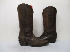 35d4398d836 Cavenders Brown Leather Snip Toe Cowboy Boots Womens Size 6 B | eBay