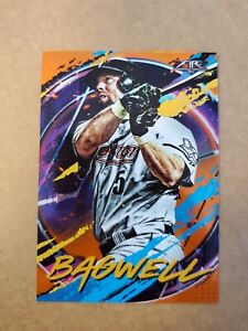 2020 Topps Fire Orange SP #d /299 Jeff Bagwell #46 Houston Astros