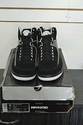 Air Jordan 2 Retro QF Black White Size