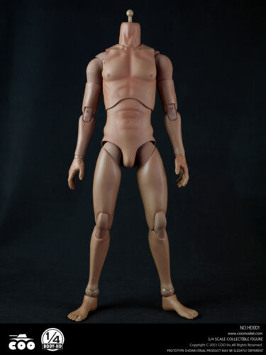 "COOMODEL 1//4 Scale HD001 Standard 18/"" Male Figure Body Collectible Toys Presale"