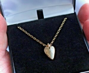 091a40f9ca510 Details about NECKLACE all SOLID 9ct GOLD 4g HEART PENDANT 24