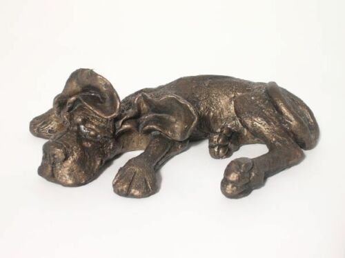 WALTER Flaked Out! Frith Cold Cast Bronze Dog Sculptures HD010