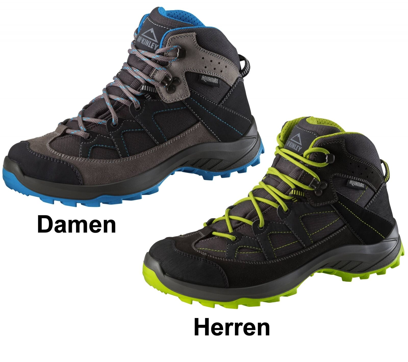 McKinly Leder Outdoor Wander Trekking Schuhe Discover Mid Aquamax Membrane Neu