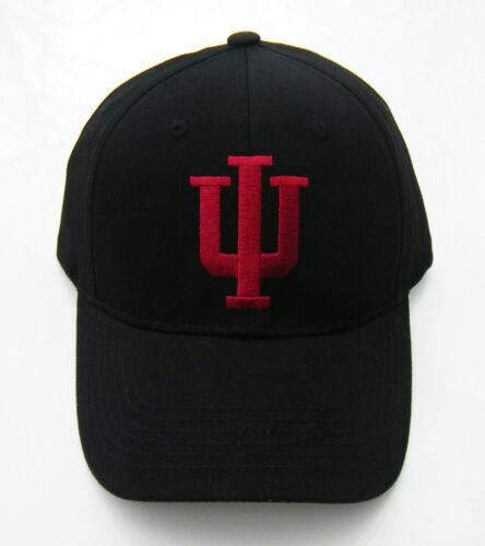 ... IU INDIANA HOOSIERS NCAA BASKETBALL Black Adjustable Baseball Hat Cap  ADULT NWT b1bb92dd4fd