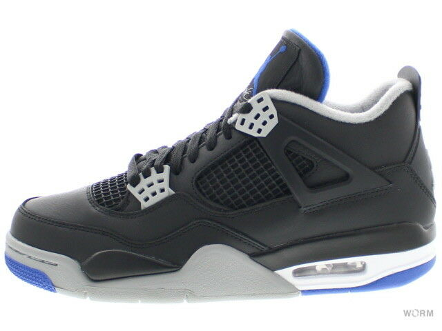 AIR JORDAN 4 RETRO 308497-006 black/game royal-matte silver 4 Size 8