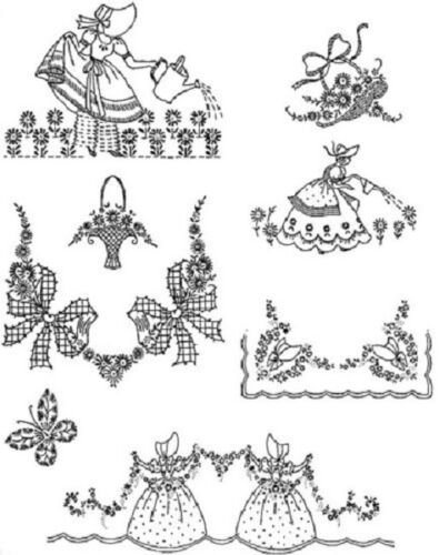 Southern Bells Iron-On Hand Embroidery Transfers-7 Designs