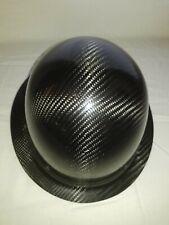 Carbon Fiber Hard Hat Full Brim Gray Black Ansiisea Certified