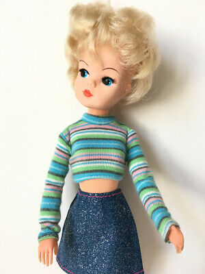 Special Section Long Sleeve T-shirt Stripe Cotton Crop Top Fit Sindy My Scene Doll Shimmyshim Other Dolls Dolls & Bears