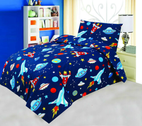 Love2Sleep COT BED 120 X 150 COTTON RICH DUVET COVER SET BLAST OFF