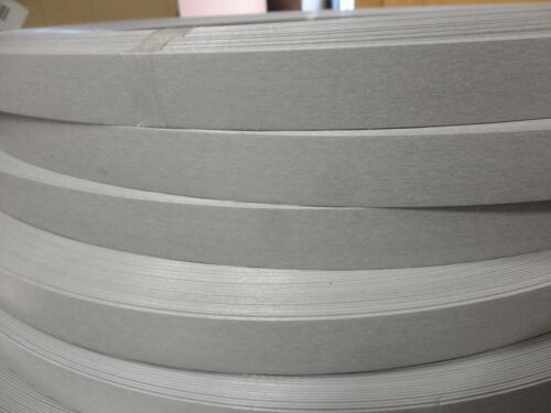 """Satin Stainless Wilsonart 4830 PVC 1MM edgebanding 15//16/""""  x 500/' x .040/"""" thick"""