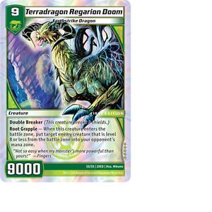 Kaijudo-X1-TERRADRAGON-REGARION-DOOM-Super-Rare-S5-S5-2DED-Dojo-Edition-2012
