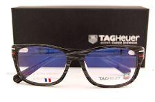 1eda1c36cdaeb Brand New TAG Heuer Eyeglass Frames PHANTOM 0534 003 Carbon Gray White Red  53