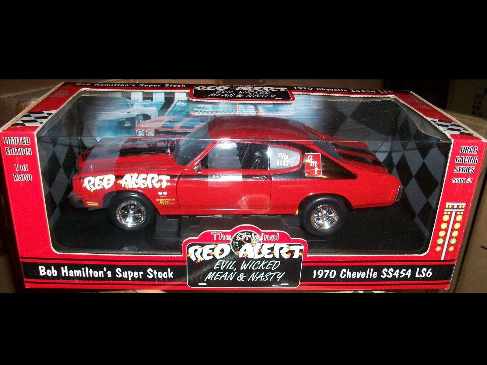 1970 Chevelle rouge Alert Bob Hamilton 1 2500 1 18 Ertl American Muscle 29108