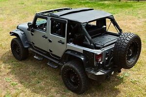 2007 2017 Jeep Wrangler Unlimited Frameless Bowless Soft Top With