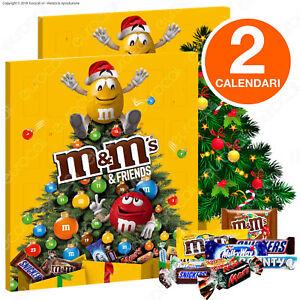 2 Calendari dell'Avvento M&M's Friends con Bounty Snickers Milky Way Twix Mars