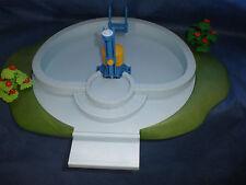 Playmobil swimming pool mit Wasser befüllbar Dusche funktioniert mit Buschwerk