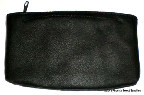 Kingstar TP-259 Genuine Leather Zippered Tobacco Pouch Black New