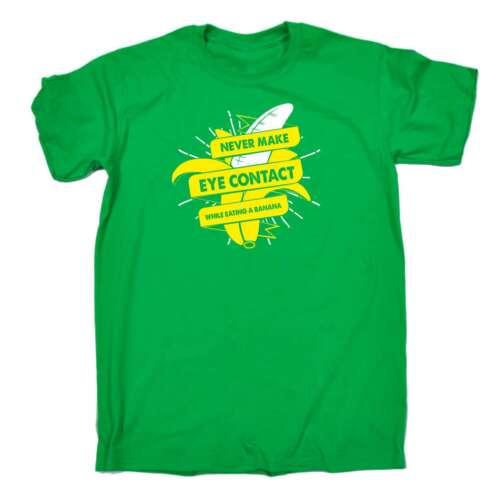 Mai un contatto visivo mentre mangiare una banana BARZELLETTA Divertente umorismo per adulti T-shirt