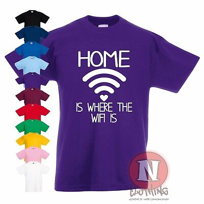 Where Da Wifi At Funny Teenager Kids T-Shirt