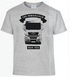 T-Shirt-Man-Tgx-Powerliner-Truck-Gorra-Beisbol-Camion