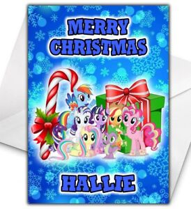 My Little Pony Christmas.Details About My Little Pony Personalised Christmas Card My Little Pony Christmas Card
