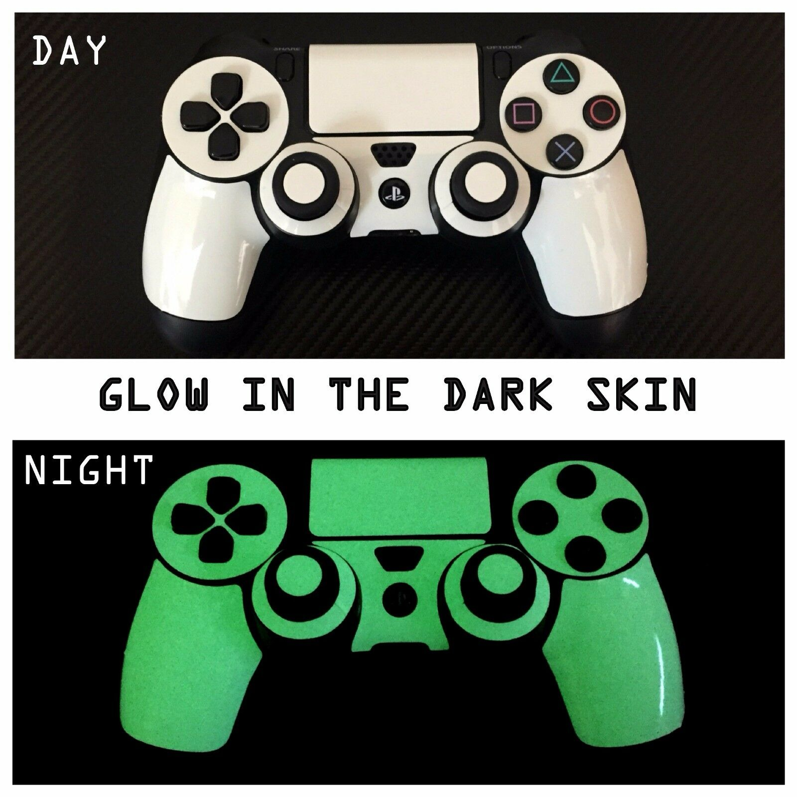 Playstation 4 PS4 - Glow in the DARK Skin Wrap Decal Sticker Luminescent Vinyl