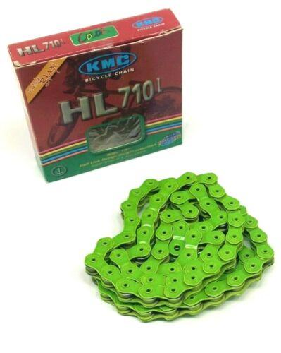 """KMC HL710L Pintle HL1L Half Link Bike Chain 1//2 X 1//8/"""" BMX Single GREEN"""
