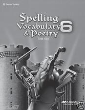 A Beka Spelling, Vocabulary and Poetry Teacher Test Key - 6th Grade