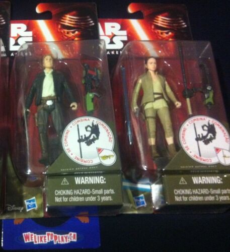 """Star Wars The Force Awakens Rey Resistance Outfit Han Solo 3.75/"""" inch RARE HTF!!"""