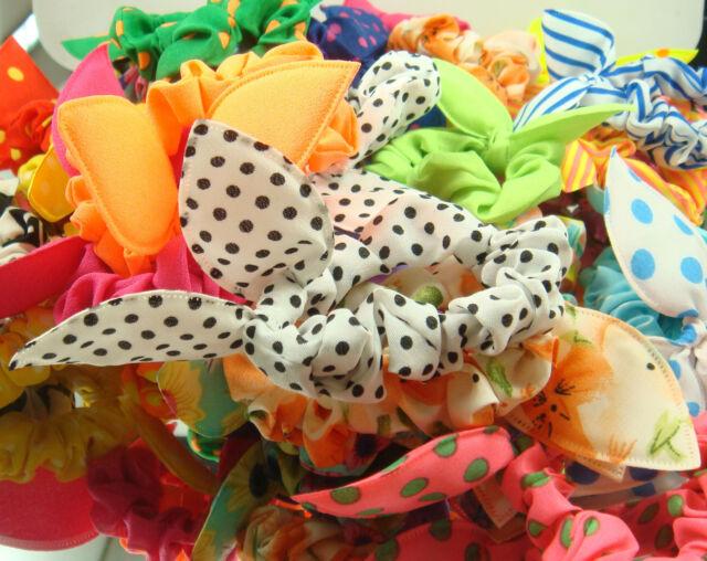 Wholesale 10pcs Lot Rabbit Ear Dots Hairband Women Hair Band Ponytail Holder s1m