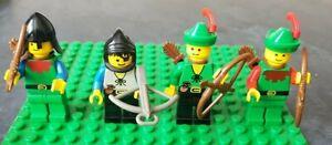 4x-lego-Forest-Chateau-Archer-Bowman-Minifigures-vintage-et-rare