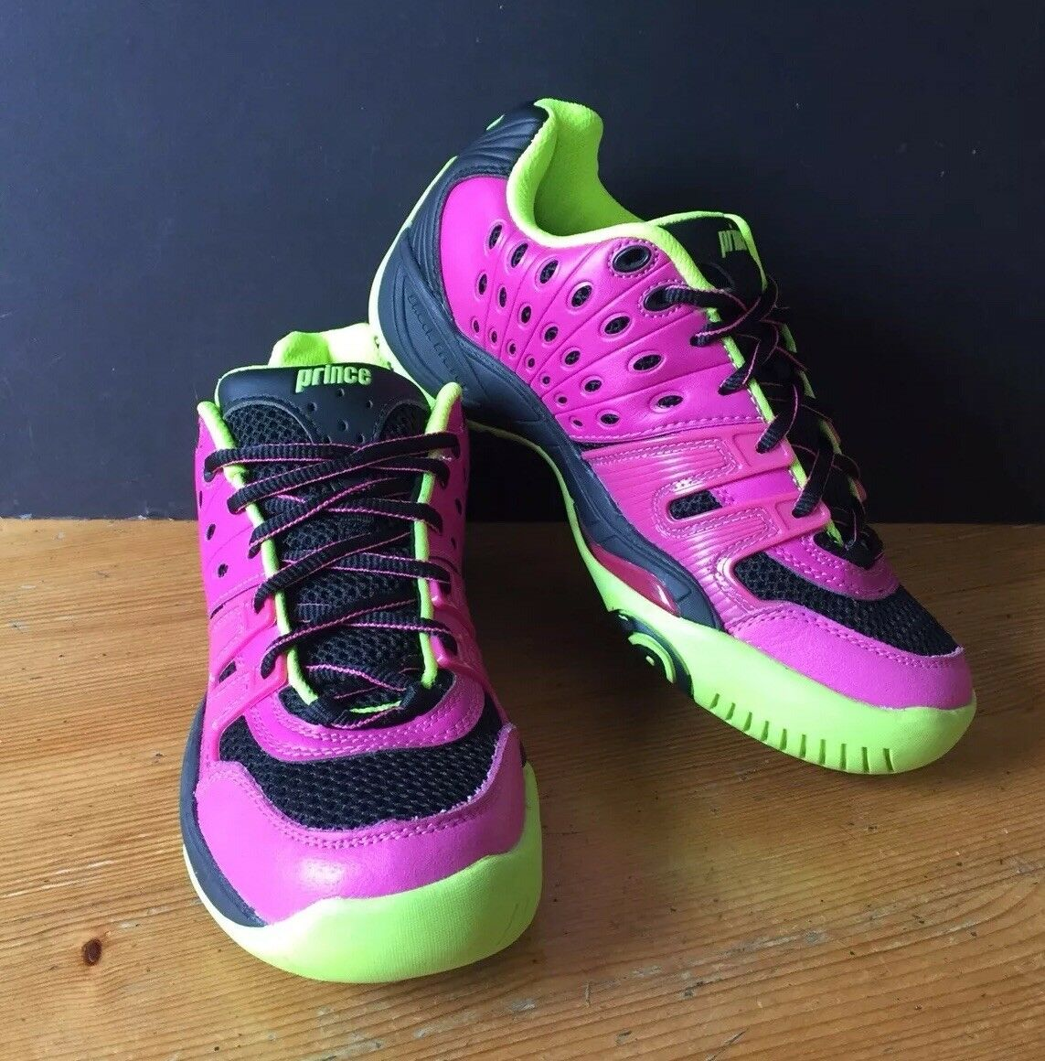 Prince T22 Tennis shoes Women's UK Size 4.5 Pink Neon Yellow Trainers